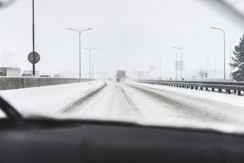 Snow Calamity on Highway