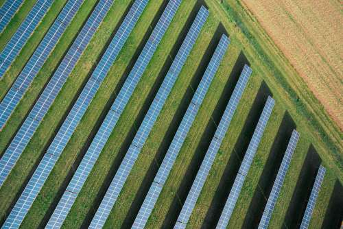 Solar Power Plant from Above