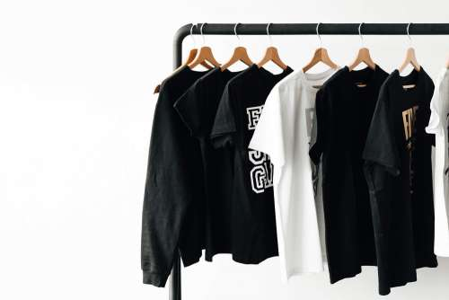 T-Shirts on Rack with Room for Text #2