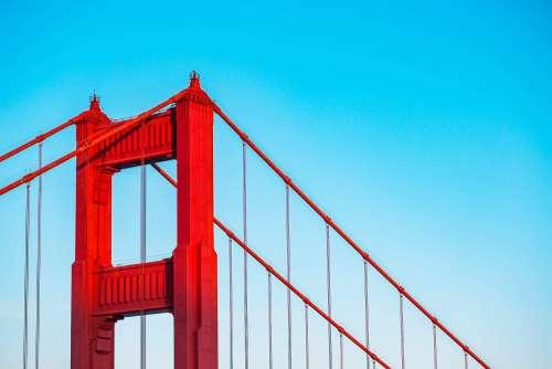 Top of The Golden Gate Bridge Pillar in San Francisco, CA