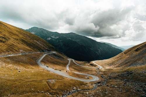 Transfagarasan Road Valley Between the Mountains