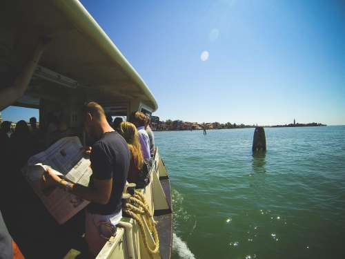 Vaporetto Sail From Venice To Lido, Italy