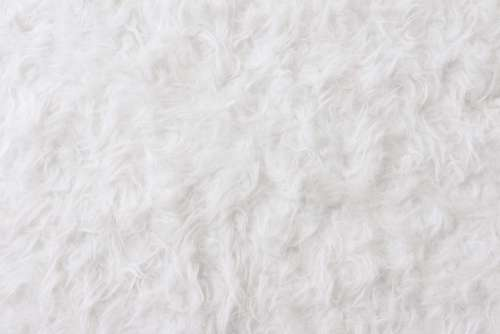 White Eco Fur Pattern Background