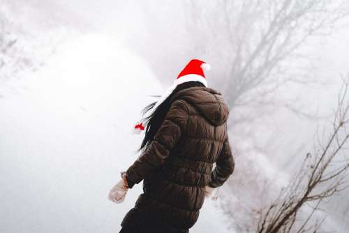 Young Woman Enjoying Christmas Time