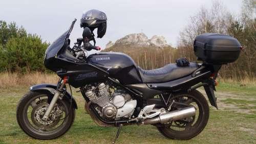 A Motorcycle The Vehicle Motor Yamaha Travel