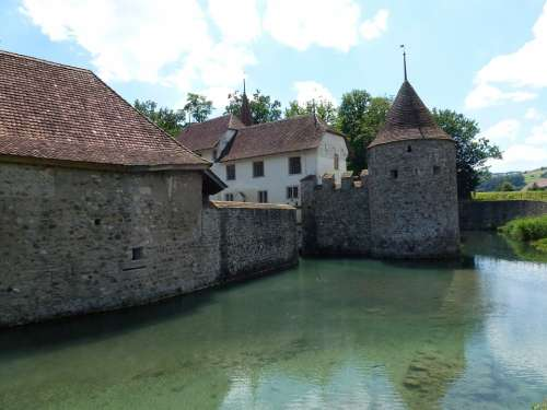 Aargau Switzerland Schlosshallwyl Moated Castle