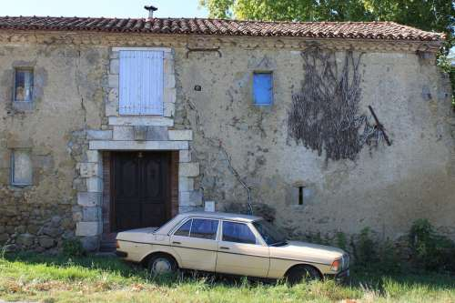 Abandoned Mercedes Mercedes Ruin Deserted House