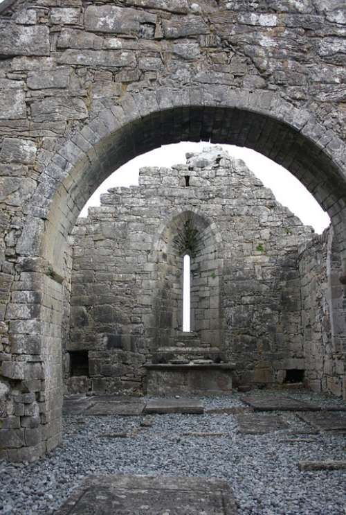 Abbey Ireland Monument Ancient Stone Ruined