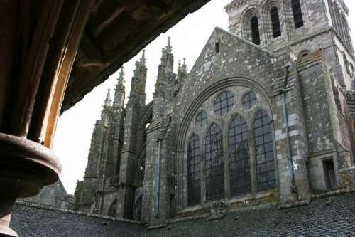 Abbey Mont Saint-Michel Normandy France Middle Ages