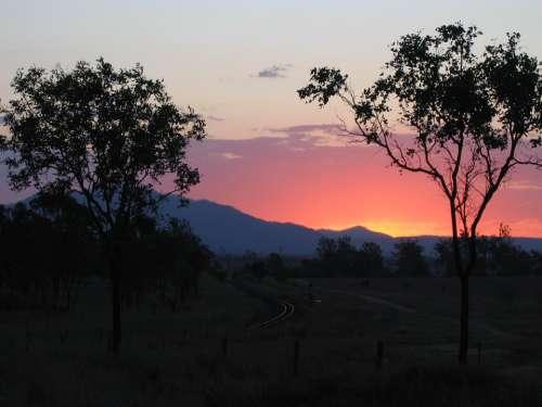 Abendstimmung Afterglow Sun Sunset Evening Sky