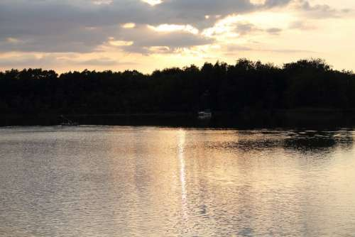 Abendstimmung Havel Water Lake Mirroring Weather