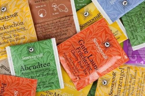Abstract Background Tea Bag Beverage Color Drink