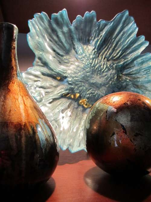 Abstract Still Life Glass Bottle Decoration