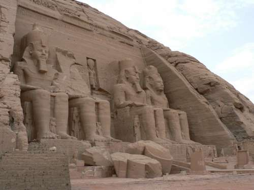 Abu Simbel Egypt Desert Temple Pharaohs Tomb