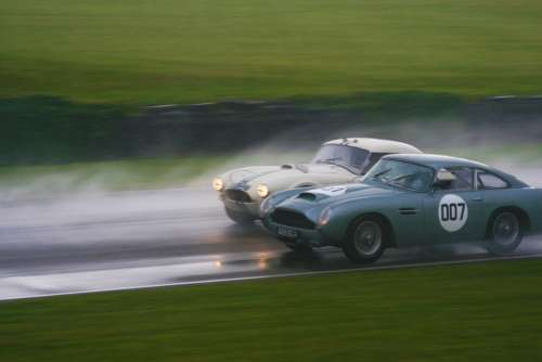 Ac Cobra Aston Martin Goodwood Racing Rain