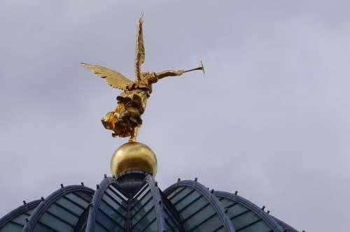 Academy Dresden Angel Art Golden Trumpet Saxony