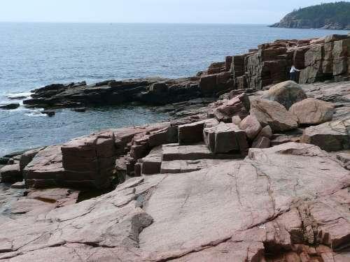 Acadia National Park Massasuchetts Usa Shoreline
