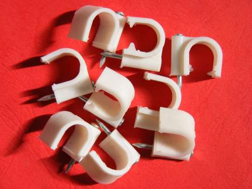 Accessories Cable Cables Clips Nail Round White