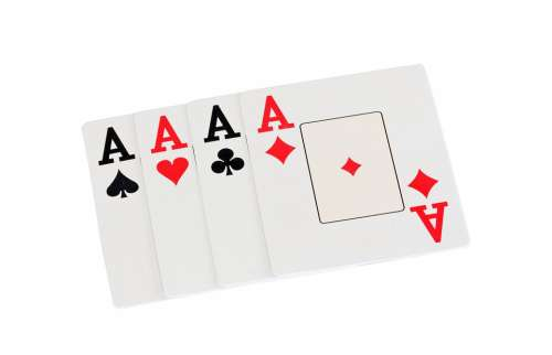 Ace Aces Four Diamonds Hearts Clubs Spades Red