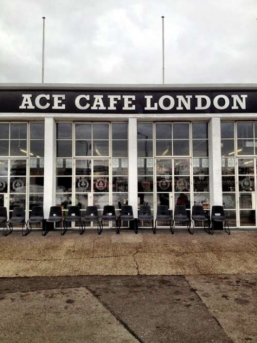 Ace Cafe Cafe Street Famous London England Ace