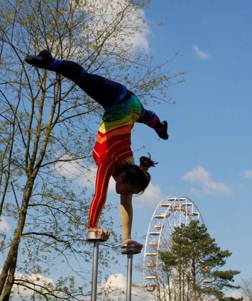 Acrobat Gymnastic Aerobics Flexibility Balance