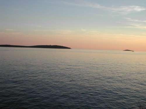 Adria Sea Water Sunset