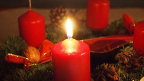 Advent Advent Wreath Candle