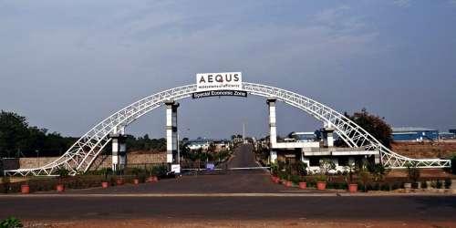 Aequs Sez Economic Zone Manufacturing Entrance Gate