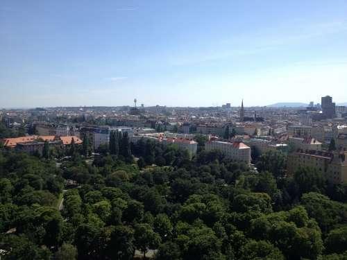 Aerial Vienna Cityscape Travel