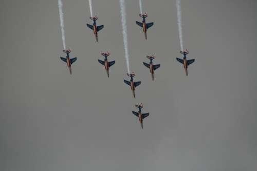 Aerobatics Aircraft Alphajet Patrol Of France