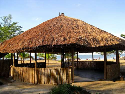 Africa Thatch Roof Lapa Entertainment Area