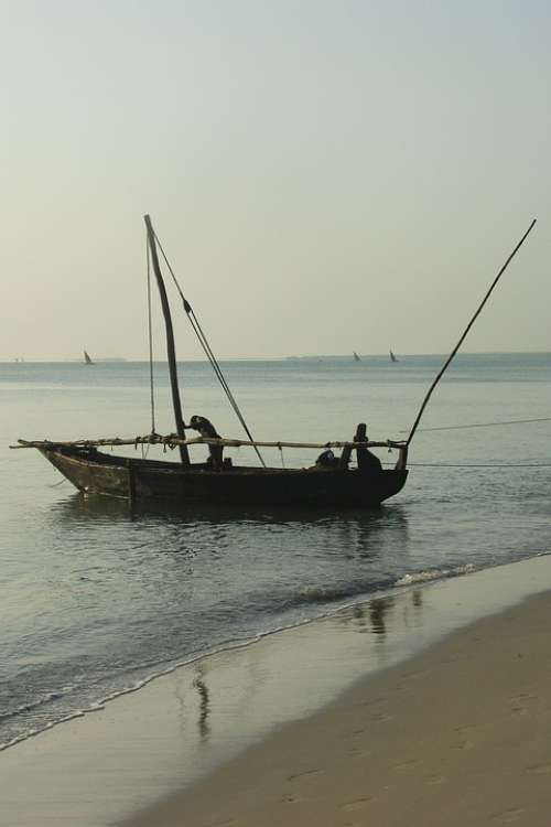 Africa Tanzania Sea Fisherman Boat Ocean Lake