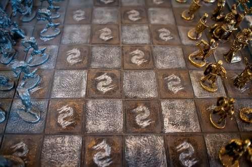 Age Backlight Black Board Brain Checkered Chess