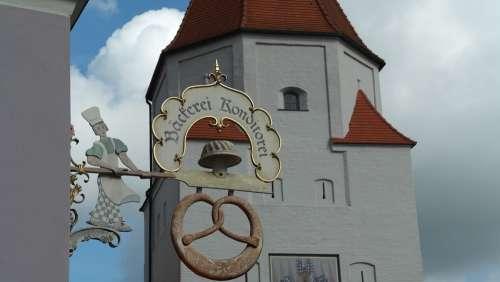 Aichach City Bavaria Historically Germany Romantic