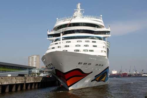 Aida Ship Driving Cruise Ship Sea Vacations Water