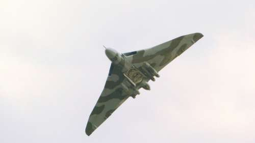 Air Show Vulcan Bomber Aeroplane British Jet