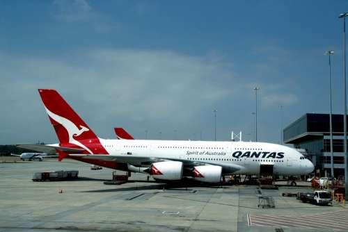 Airbus A380 Qantas Aircraft Passenger Aircraft