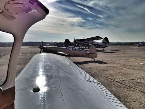 Aircraft Piper Aerobatics Basel Airport Door Wing
