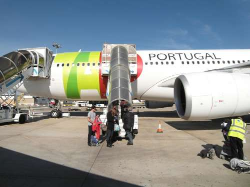 Aircraft Flying Travel Portugal Holidays Vacations