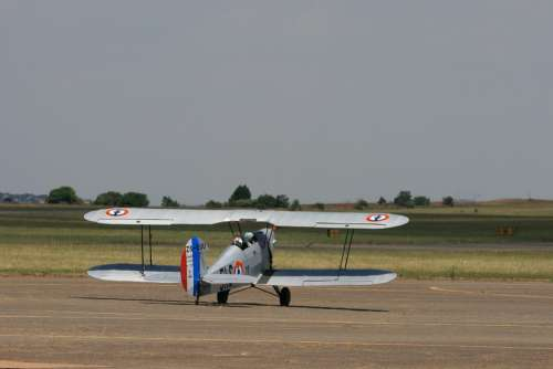 Aircraft Vintage Biplane Light Stampe Taxiing
