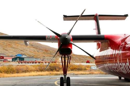 Aircraft Motor Propeller Red Greenland
