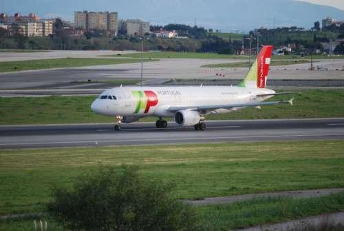 Airport Portugal Landing Strip Landing Field Plane