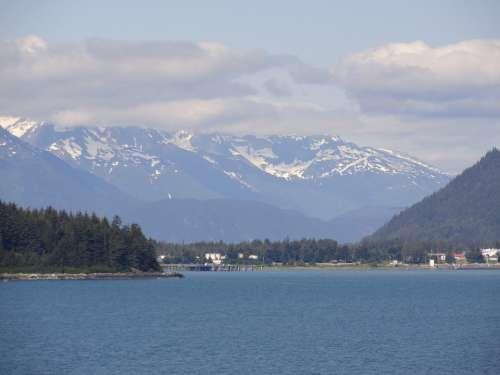 Alaska Scenery Landscape Sky Nature Countryside