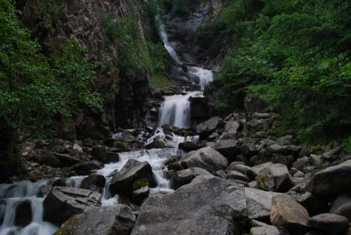 Alaska Skagway Travel Forest Waterfall Wilderness