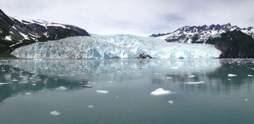 Alaska Ice Glacier Snow Blue Water Beautiful