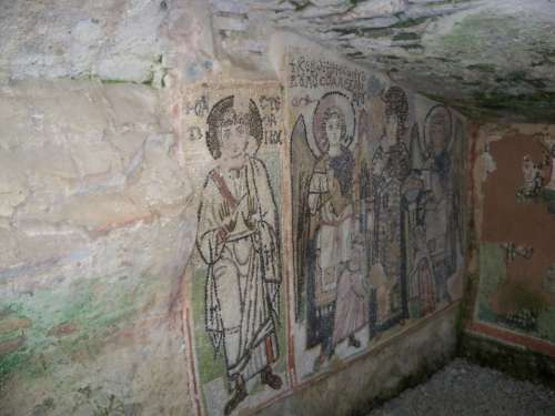 Albania Durres Amphitheater Church Mural
