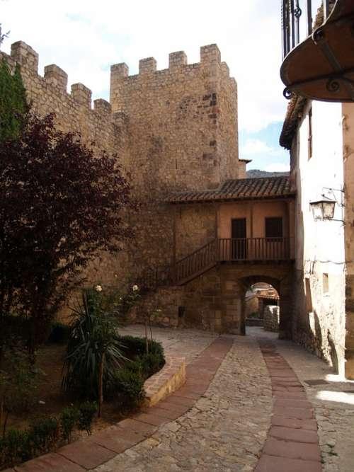 Albarracín Medieval Village Typical Street
