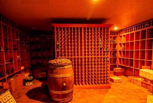 Alcohol Barrel Basement Beverage Big Cask Cellar