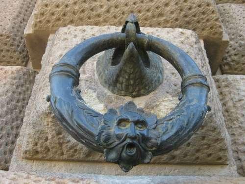 Aldaba Ring Aguila Metal Alhambra Granada