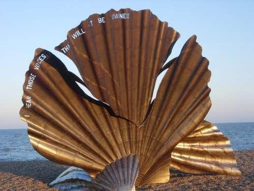 Aldeburgh Scallop Beach Sculpture Thorpeness
